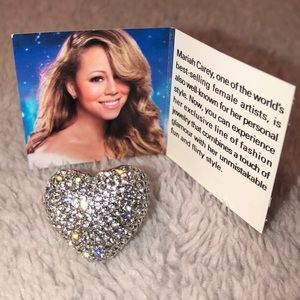 Mariah Carey 🦋 Pave Heart Ring